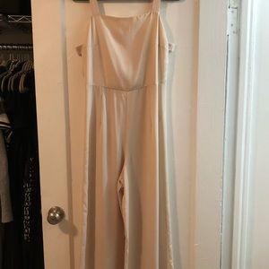 Sweet, light pink flared jumpsuit